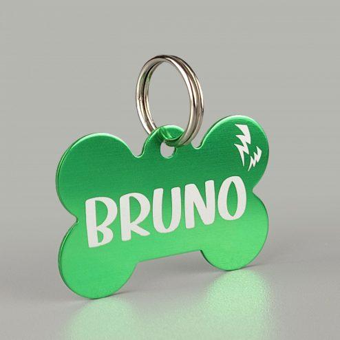 Aluminium bone tag green