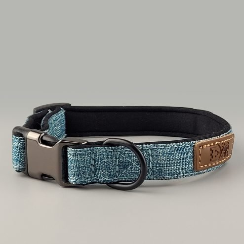 Collar denim blue