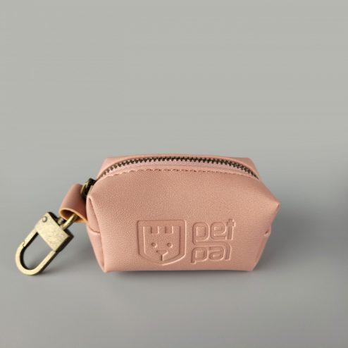 Poop bag holder powder pink