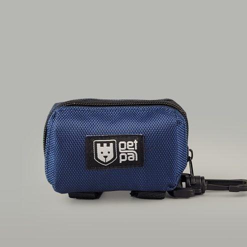 Poop bag holder blue front